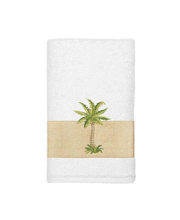 Linum Home Turkish Cotton Colton Embellished Hand Towel