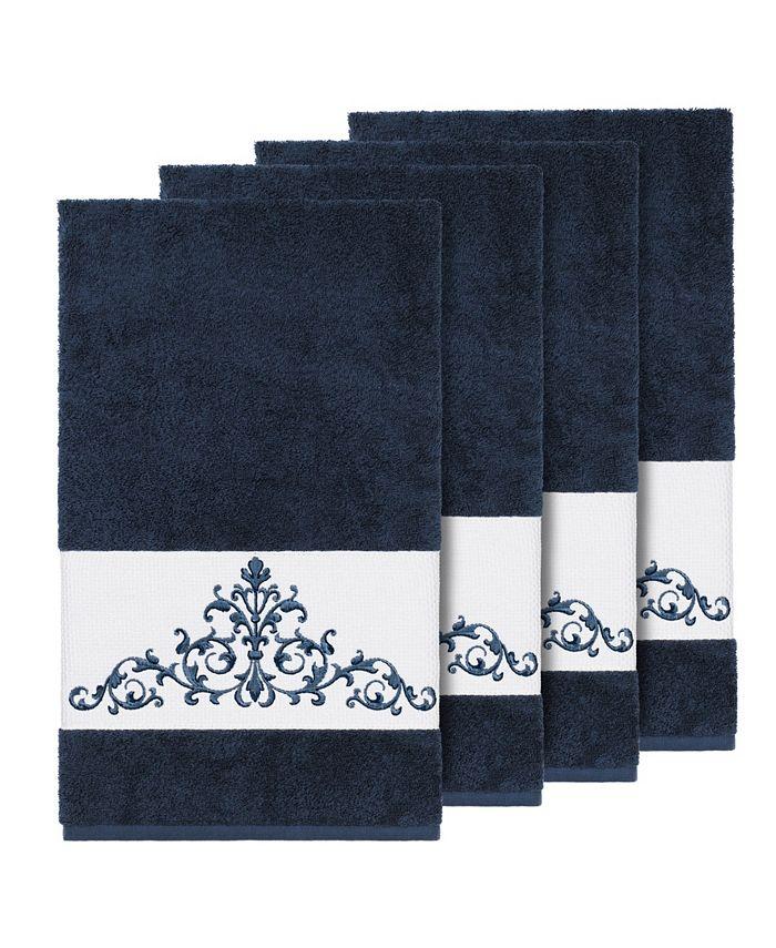 Linum Home - Turkish Cotton Scarlet 4-Pc. Embellished Bath Towel Set