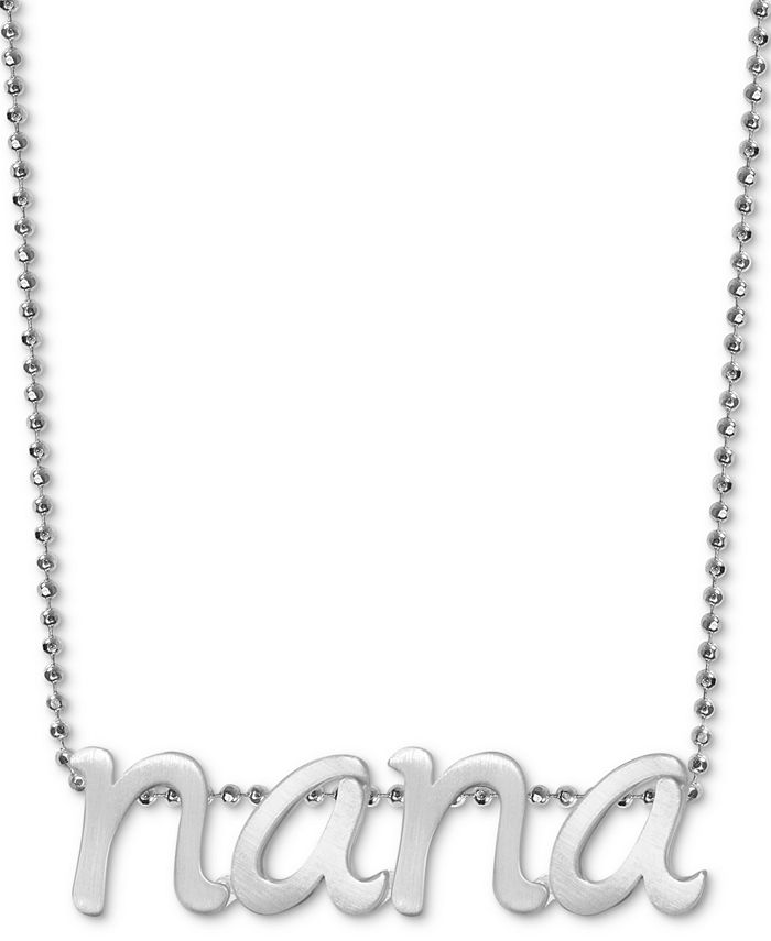 """Alex Woo - Nana 16"""" Pendant Necklace in Sterling Silver"""