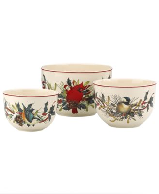 Lenox Serveware, Set of 3 Winter Greetings Nesting Bowls