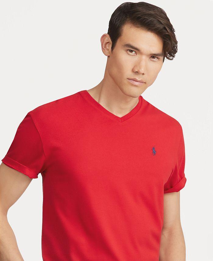 Polo Ralph Lauren Men's V-Neck T-Shirt & Reviews - T-Shirts - Men ...