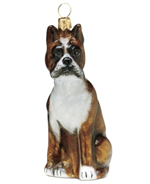 Joy to the World Boxer Pet Charity Ornament