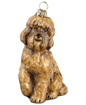 Joy to the World Pet Ornament, Brown Labradoodle