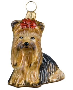Joy to the World Pet Ornament, Yorkshire Terrier