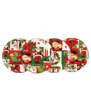Martha Stewart Collection Dinnerware, Set of 4 Holiday Vintage Paper Appetizer Plates