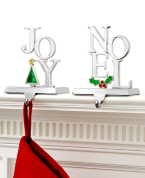 Holiday Lane Christmas Stocking Holder, Joy and Noel