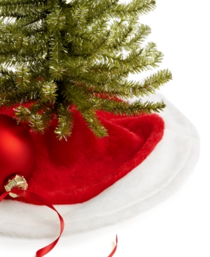 Kurt Adler Christmas Tree Skirt, Plush Mini
