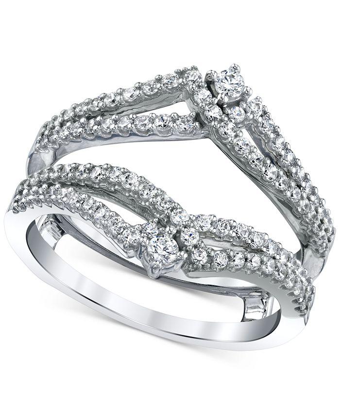 Macy's - Diamond Split-Band Enhancer Ring Guard (5/8 ct. t.w.) in 14k White Gold