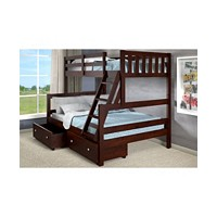 Deals on Donco Kids Twin Over Full Bunk Bed with Dual Underbed Drawers