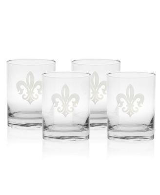 Grand Fleur De Lis Balloon Wine 18Oz - Set Of 4 Glasses