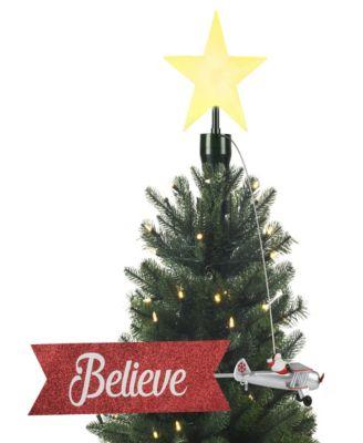 Animated Santa in Plane Tree Topper