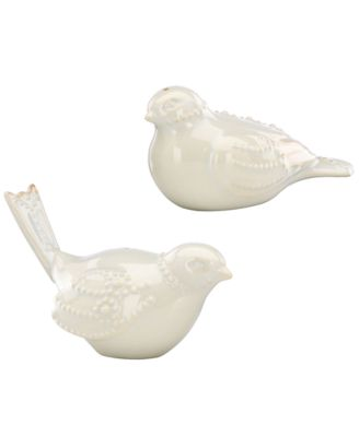 Lenox Dinnerware, French Perle White Bird Salt and Pepper Shakers