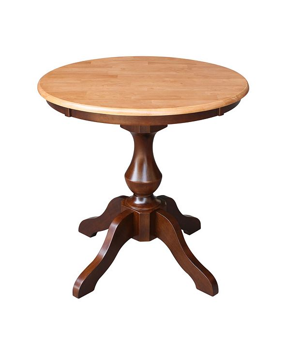 """International Concepts 30"""" Round Top Pedestal Table- 28.9""""H"""