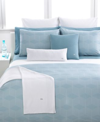 """CLOSEOUT! Lacoste Bedding, Quilted Sateen 18"""" Square Decorative Pillow"""