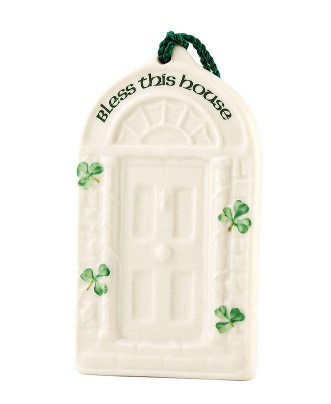 Belleek Pottery House Blessing Ornament