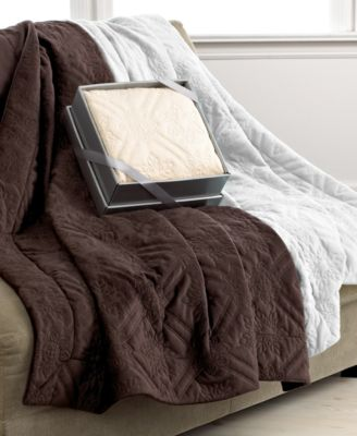 Berkshire Blankets Quilted Seranelle Giftable Throw Bedding