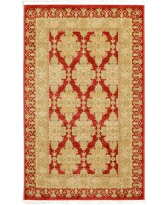 "Orwyn Orw5 Red 3' 3"" x 5' 3"" Area Rug"