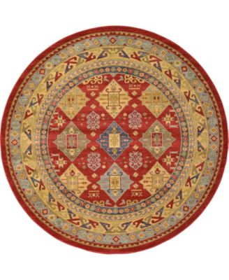 Harik Har2 Red 8' x 8' Round Area Rug