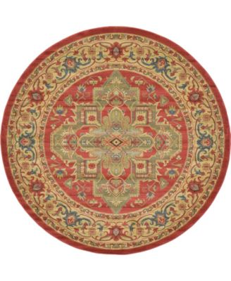 Harik Har9 Red 8' x 8' Round Area Rug