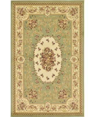 Belvoir Blv4 Green 5' x 8' Area Rug