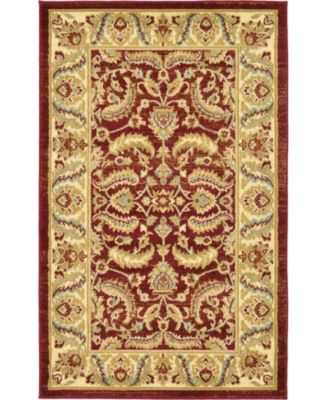 """Passage Psg1 Red 3' 3"""" x 5' 3"""" Area Rug"""
