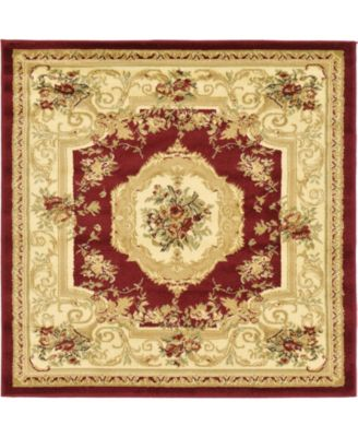 Belvoir Blv3 Red 4' x 4' Square Area Rug