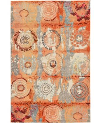 "Newwolf New3 Orange 10' 6"" x 16' 5"" Area Rug"