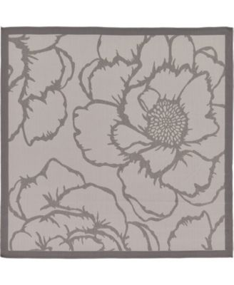 Pashio Pas4 Gray 6' x 6' Square Area Rug