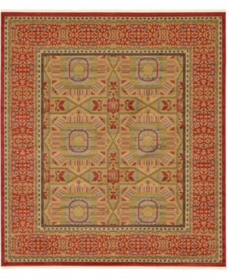 """Wilder Wld6 Red 10' x 11' 4"""" Square Area Rug"""