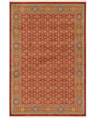 Wilder Wld7 Red 6' x 9' Area Rug