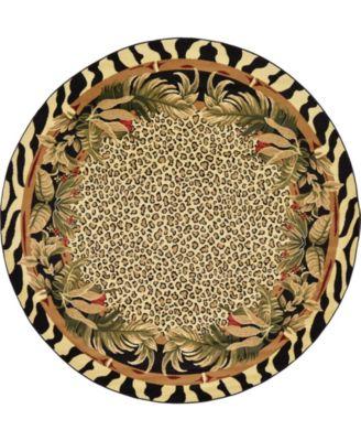 Maasai Mss1 Ivory 8' x 8' Round Area Rug