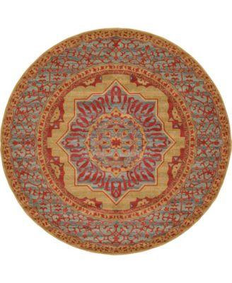 Wilder Wld4 Red 8' x 8' Round Area Rug
