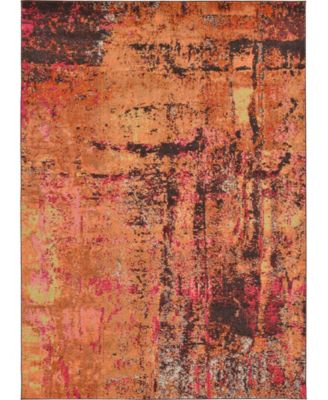 Newwolf New3 Orange 7' x 10' Area Rug