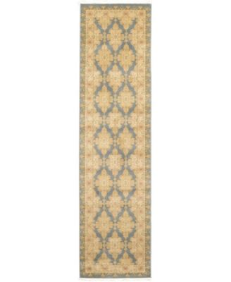 "Orwyn Orw5 Blue 2' 7"" x 10' Runner Area Rug"