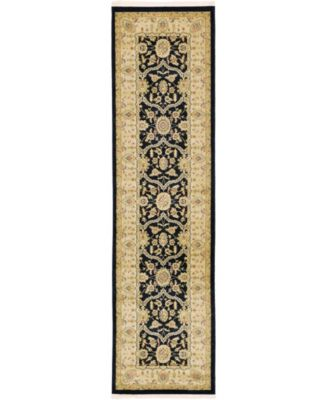 "Orwyn Orw6 Black 2' 7"" x 10' Runner Area Rug"