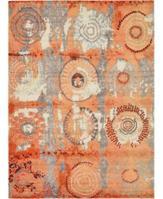 Newwolf New3 Orange 8' x 11' Area Rug