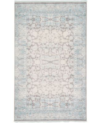 Norston Nor3 Blue 5' x 8' Area Rug