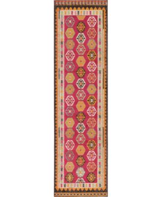 """CLOSEOUT! Arcata Arc8 Red 2' 7"""" x 10' Runner Area Rug"""