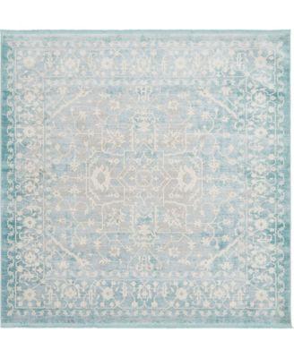 Norston Nor1 Blue 8' x 8' Square Area Rug