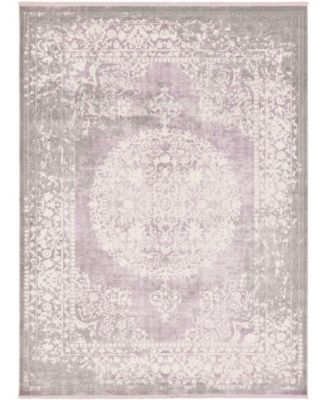 Norston Nor4 Purple 9' x 12' Area Rug
