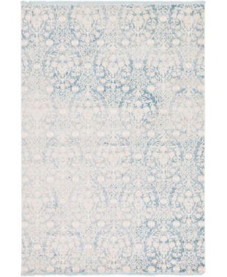 Norston Nor5 Light Blue 7' x 10' Area Rug