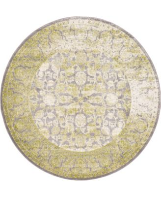 Norston Nor3 Light Green 6' x 6' Round Area Rug