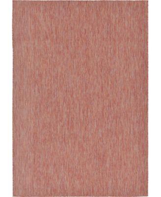 Pashio Pas6 Rust Red 7' x 10' Area Rug