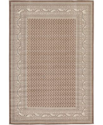 Axbridge Axb1 Brown 6' x 9' Area Rug