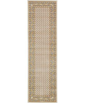 """Axbridge Axb1 Beige 2' 9"""" x 9' 10"""" Runner Area Rug"""