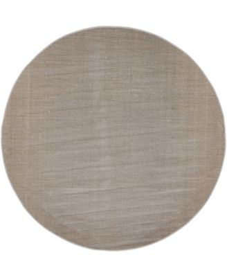 Axbridge Axb3 Gray 5' x 5' Round Area Rug
