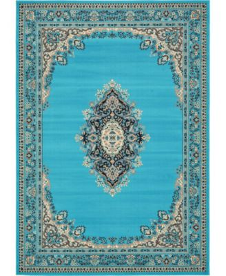 Birsu Bir1 Turquoise 7' x 10' Area Rug