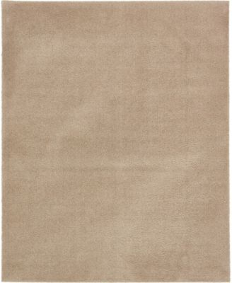 Salon Solid Shag Sss1 Taupe 8' x 10' Area Rug