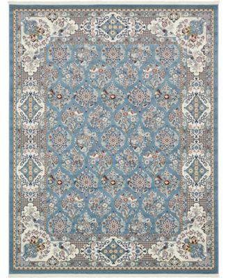 Zara Zar6 Blue 8' x 10' Area Rug