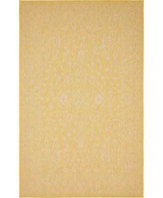 Pashio Pas6 Yellow 5' x 8' Area Rug